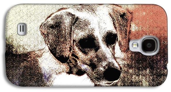 Puppy Digital Art Galaxy S4 Cases - Mans Best Freind Galaxy S4 Case by Bill Cannon