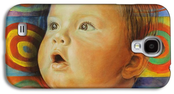 Innocence Paintings Galaxy S4 Cases - Manuels Portrait Galaxy S4 Case by Karina Llergo Salto