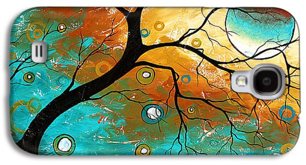 Aft Galaxy S4 Cases - Many Moons Ago by MADART Galaxy S4 Case by Megan Duncanson