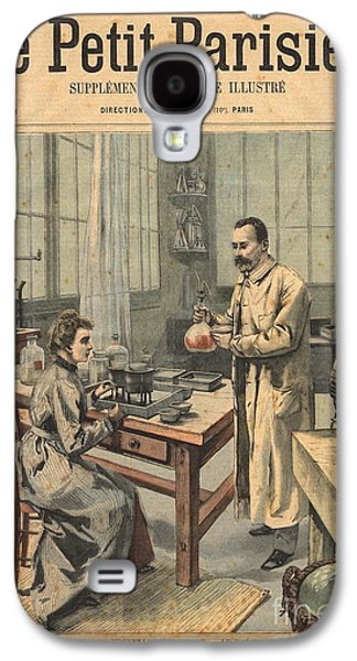 Personalities Photographs Galaxy S4 Cases - Marie And Pierre Curie In Laboratory Galaxy S4 Case by Science Source
