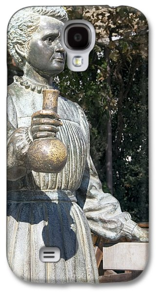 Statue Portrait Galaxy S4 Cases - Marie Curie, Polish-french Physicist Galaxy S4 Case by Sheila Terry