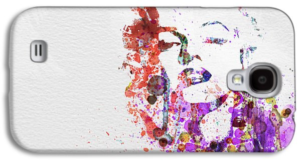 Actors Paintings Galaxy S4 Cases - Marilyn Monroe Galaxy S4 Case by Naxart Studio
