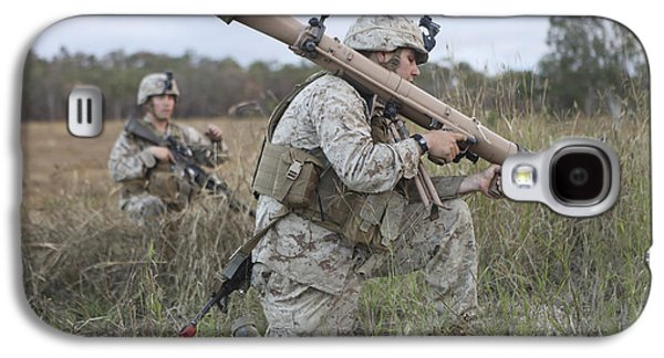 Hamels Galaxy S4 Cases - Marines Conduct A Simulated Attack Galaxy S4 Case by Stocktrek Images