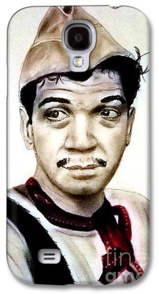 Boxer Pastels Galaxy S4 Cases - Mario Moreno as Cantinflas in El Bombero Atomico  Galaxy S4 Case by Jim Fitzpatrick