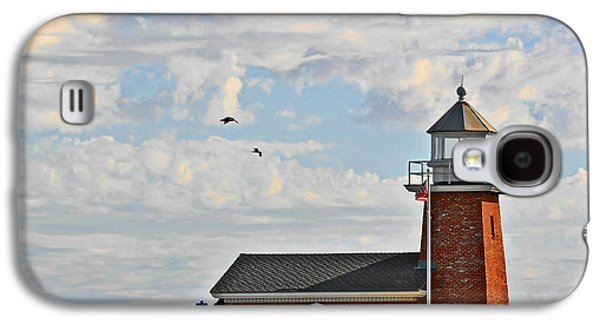 Coast Highway One Galaxy S4 Cases - Mark Abbott Memorial Lighthouse  - Home of the Santa Cruz Surfing Museum CA USA Galaxy S4 Case by Christine Till