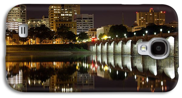 Light Galaxy S4 Cases - Market Street Bridge Reflections Galaxy S4 Case by Shelley Neff