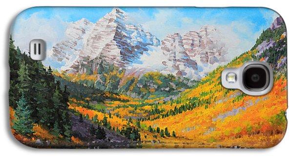Autumn Foliage Galaxy S4 Cases - Maroon Bells Galaxy S4 Case by Gary Kim