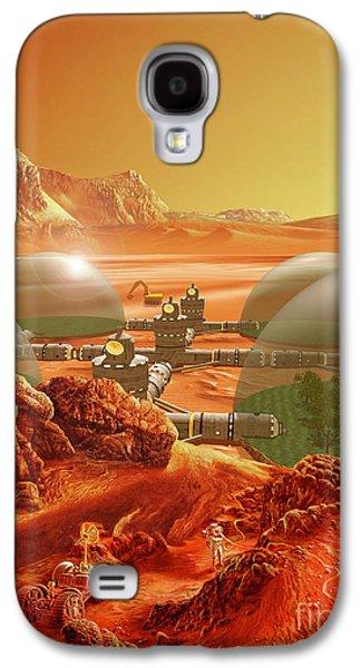 Fantasy World Galaxy S4 Cases - Mars Colony Galaxy S4 Case by Don Dixon