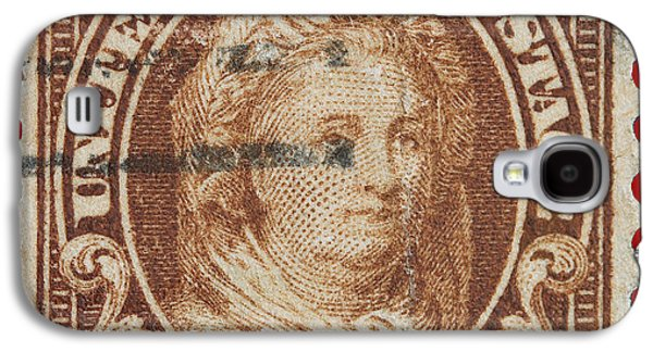 First Lady Galaxy S4 Cases - Martha Washington postage stamp Galaxy S4 Case by James Hill