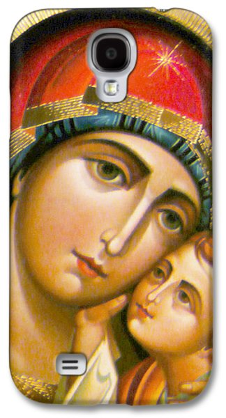 Orthodox Icon Galaxy S4 Cases - Mary Icon Galaxy S4 Case by Munir Alawi