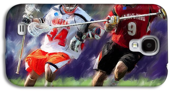Digital Paintings Galaxy S4 Cases - Lacrosse Close D Galaxy S4 Case by Scott Melby