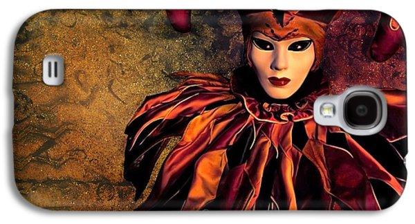 Jester Digital Art Galaxy S4 Cases - Masquerade Galaxy S4 Case by Photodream Art