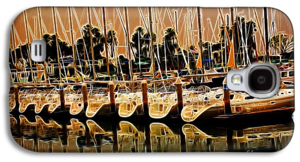 Sailboats Docked Galaxy S4 Cases - Masts Galaxy S4 Case by Cheryl Young