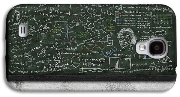 Classes Galaxy S4 Cases - Maths Formula On Chalkboard Galaxy S4 Case by Setsiri Silapasuwanchai