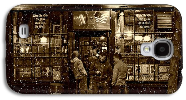 Snow Galaxy S4 Cases - McSorleys Old Ale House Galaxy S4 Case by Randy Aveille