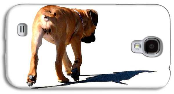 Dog Walking Digital Art Galaxy S4 Cases - Me and My Shadow Galaxy S4 Case by Dale   Ford