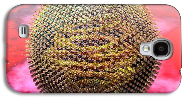 Measles Virus Galaxy S4 Cases - Measles Virus Galaxy S4 Case by Russell Kightley
