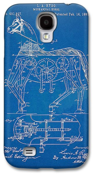 Mechanical Horse Toy Patent Artwork 1893 Galaxy S4 Case by Nikki Marie Smith