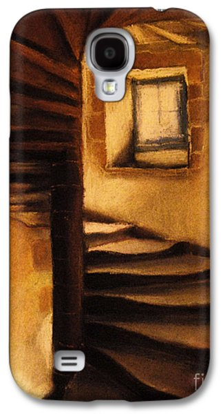 Ancient Pastels Galaxy S4 Cases - Medieval Tower Galaxy S4 Case by Mona Edulesco