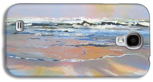 Abstract Seascape Pastels Galaxy S4 Cases - Meditation Galaxy S4 Case by Christine  Camilleri