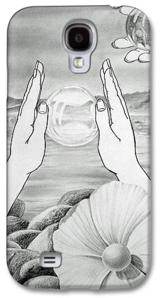 Rocks Drawings Galaxy S4 Cases - Meditation  Galaxy S4 Case by Irina Sztukowski