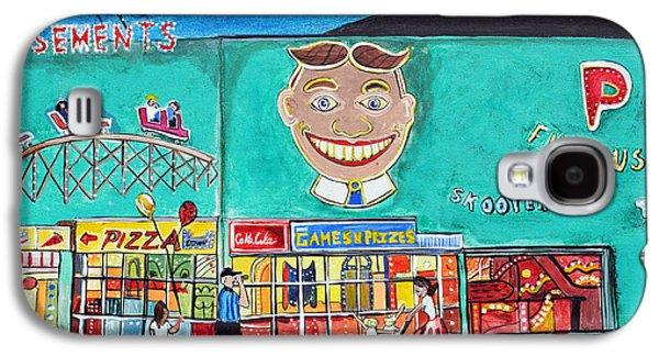 Park Scene Drawings Galaxy S4 Cases - Memories of Asbury Park  NJ  Galaxy S4 Case by Patricia Arroyo