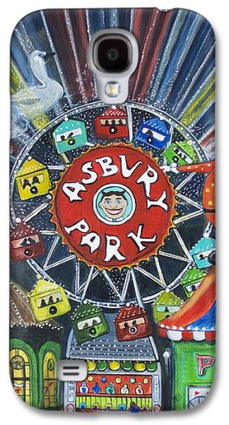 Asbury Park Paintings Galaxy S4 Cases - Memories of Asbury Park  Galaxy S4 Case by Patricia Arroyo