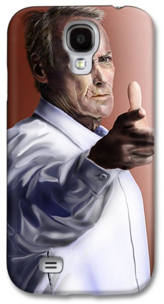 Police Paintings Galaxy S4 Cases - Men must know their limitations-Clint Eastwood Galaxy S4 Case by Reggie Duffie