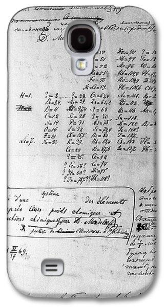 Theory Galaxy S4 Cases - Mendeleyevs Periodic Table, 1869 Galaxy S4 Case by Ria Novosti