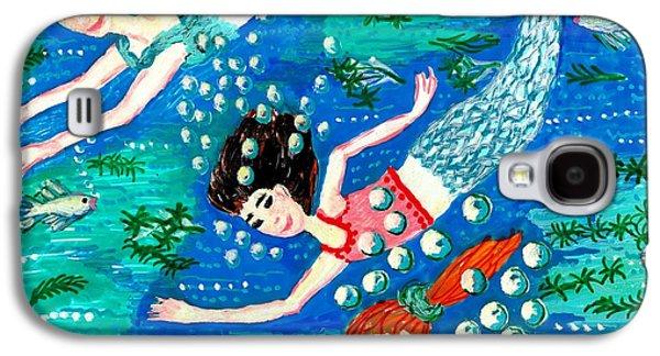 Fantasy Ceramics Galaxy S4 Cases - Mermaid race Galaxy S4 Case by Sushila Burgess