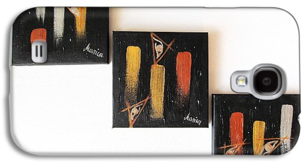 Visionary Artist Galaxy S4 Cases - Message from the Future - Set of 3 Galaxy S4 Case by Marianna Mills