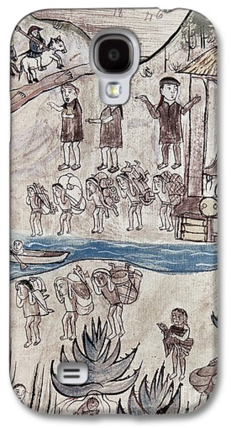 Canoe Drawings Galaxy S4 Cases - MEXICO INDIANS c1500 Galaxy S4 Case by Granger