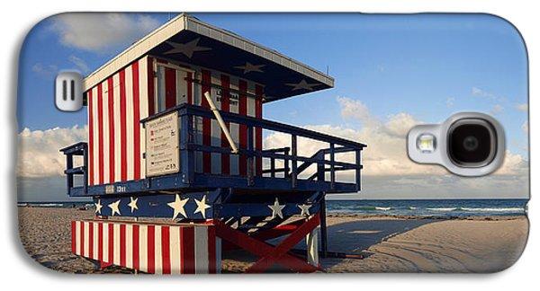 Information Photographs Galaxy S4 Cases - Miami Beach Watchtower Galaxy S4 Case by Melanie Viola