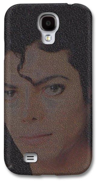 Mj Digital Art Galaxy S4 Cases - Michael Jackson Songs Mosaic Galaxy S4 Case by Paul Van Scott
