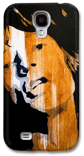 Rolling Stones Paintings Galaxy S4 Cases - Mick Jagger Satisfaction Galaxy S4 Case by Brad Jensen