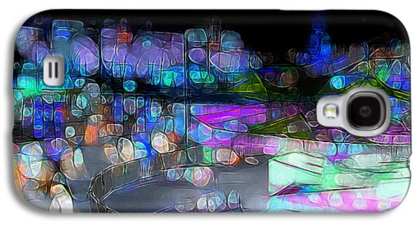 Midway Memories - Bright Lights Galaxy S4 Case by Stuart Turnbull