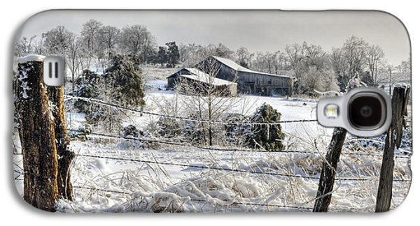 Indiana Winters Galaxy S4 Cases - Midwestern Ice Storm - D004825 Galaxy S4 Case by Daniel Dempster
