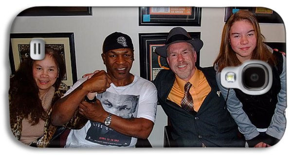Boxer Galaxy S4 Cases - Mike Tyson  Elvie  Vanessa and myself at ManCave Memorabilia  Galaxy S4 Case by Jim Fitzpatrick