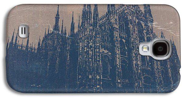 European City Digital Art Galaxy S4 Cases - Milan Cathedral Galaxy S4 Case by Naxart Studio