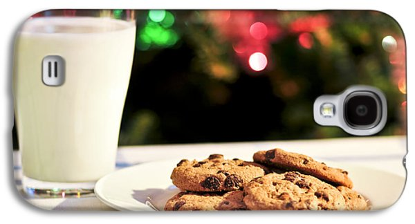 Snack Galaxy S4 Cases - Milk and cookies for Santa Galaxy S4 Case by Elena Elisseeva