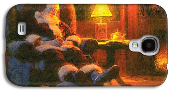 Christmas Eve Galaxy S4 Cases - Milk and Cookiezzzzz Galaxy S4 Case by Greg Olsen