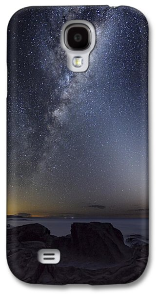 Moonlit Night Photographs Galaxy S4 Cases - Milky Way Over Cape Otway, Australia Galaxy S4 Case by Alex Cherney, Terrastro.com