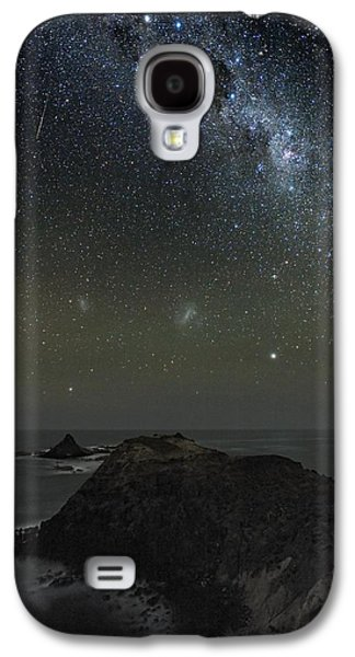 Moonlit Night Photographs Galaxy S4 Cases - Milky Way Over Phillip Island, Australia Galaxy S4 Case by Alex Cherney, Terrastro.com