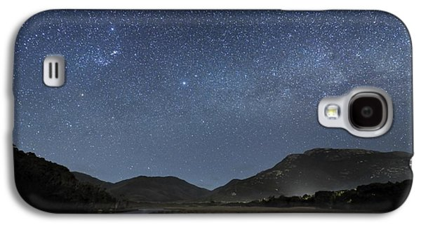 Moonlit Night Photographs Galaxy S4 Cases - Milky Way Over Wilsons Promontory Galaxy S4 Case by Alex Cherney, Terrastro.com
