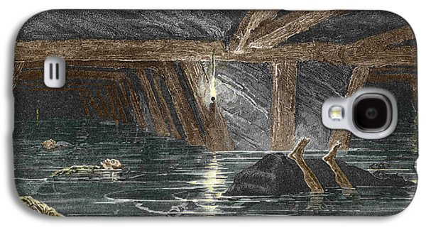Working Conditions Photographs Galaxy S4 Cases - Mining Disaster, 19th Century Galaxy S4 Case by Sheila Terry