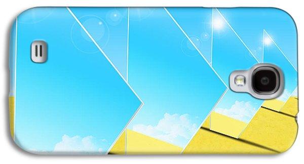 Brightly Galaxy S4 Cases - Mirrors On Sand In Blue Sky Galaxy S4 Case by Setsiri Silapasuwanchai