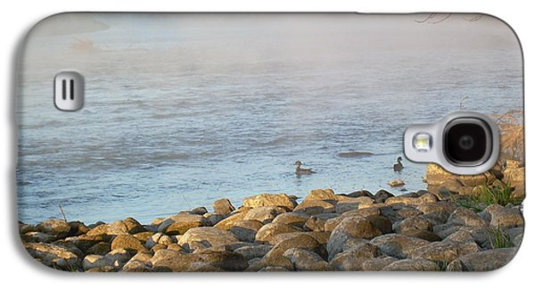 Waterscape Pyrography Galaxy S4 Cases - Mississippi river Duck Duck dawn Galaxy S4 Case by Kent Lorentzen
