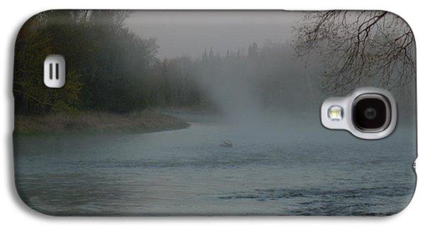 Waterscape Pyrography Galaxy S4 Cases - Mississippi river Fog swirls Galaxy S4 Case by Kent Lorentzen