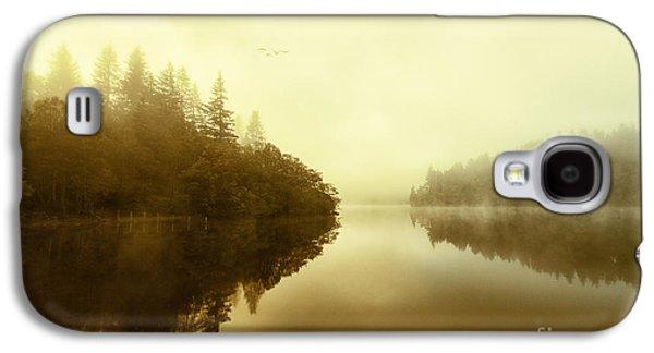 Colour Image Photographs Galaxy S4 Cases - Mist across the water Loch Ard Galaxy S4 Case by John Farnan