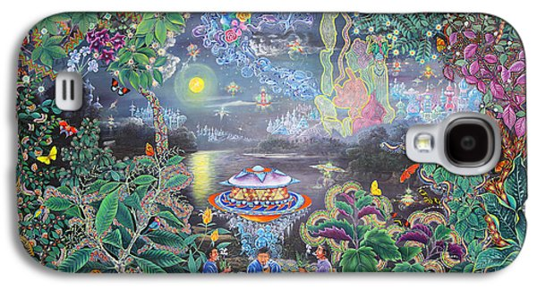 Visionary Paintings Galaxy S4 Cases - Misterio Profundo Galaxy S4 Case by Pablo Amaringo